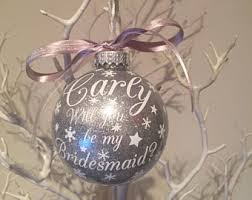 flower girl christmas ornament bridesmaid etsy