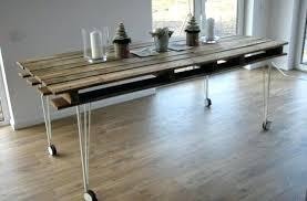 diy dining table bench diy dining table industrial pallet dining table on wheels via diy