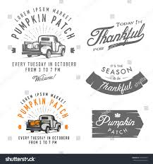 symbols of thanksgiving set vintage thanksgiving day emblems signs stock vector 316448735