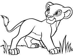 baby lion clipart black and white clipartxtras