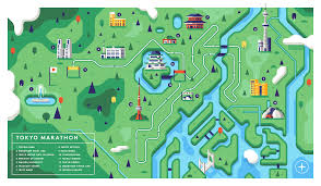 New York City Marathon Map by Outside Magazine U2014 Matt Anderson