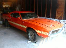 1969 mustang gt500 for sale 1969 shelby mustang gt500 fastback barn find for sale front top