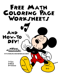 free math worksheets and how to diy coloring pages the mouse and