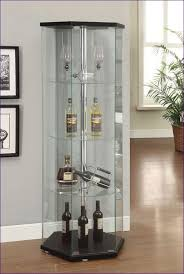 White Curio Cabinet Kitchen Room Awesome Oak Corner Curio Contemporary Glass Curio