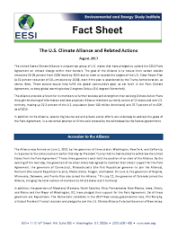 fact sheet the u s climate alliance and related actions issuelab