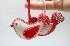 cheery felt cookie tree ornaments by gingercrafts along