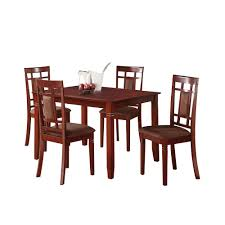cherry dining room furniture acme sonata 5 piece cherry dining set 71164 the home depot