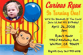 curious george birthday party invitations cimvitation