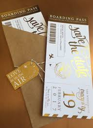 ideen fã r den polterabend absolutely stunning foiled boarding pass save the dates i