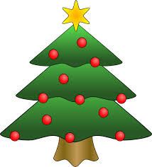 christmas tree christmas tree in snow clipart photo images and