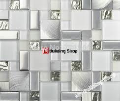 Kitchen Backsplash Tiles For Sale Glass Mosaic Kitchen Backsplash Tile Ssmt104 Silver Stainless