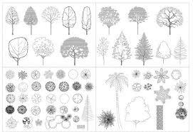 architecture drawing trees interior design