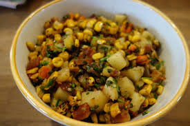 Potatoes As Main Dish - sharing plate potatoes corn and carrots with dill