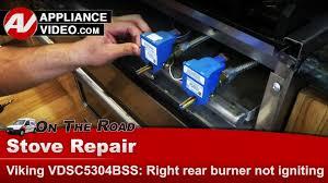 viking stove iris spark module right rear burner not igniting