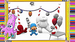 pocoyo coloring book pages kids ep 1 kideo tv