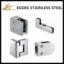 top quality stainless shower glass clamp glass door patch fitting