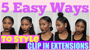 in extensions 5 easy ways to style your clip in extensions on hair