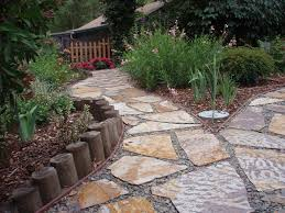 lawn u0026 garden creative backyard ideas with stone footpath and