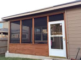 enclosed patio images cedar screened porch with glass storm door home pinterest