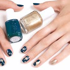 how to holiday stars nail art manicure