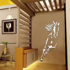 Mirror Wall Decals And Wall by Aliexpress Com Buy Acrylic 3d Steed Mirror Wall Stickers Bedroom