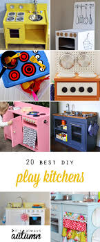 homemade play kitchen ideas how to turn an old entertainment center into a play kitchen