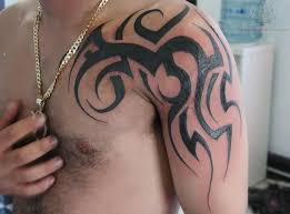 tribal on left shoulder