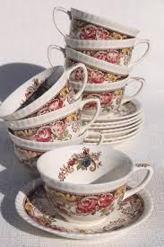 devonshire johnson brothers china vintage transferware cups
