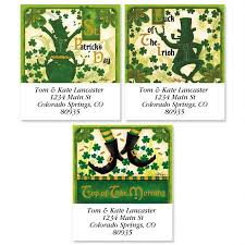 st patricks day select return address labels colorful images