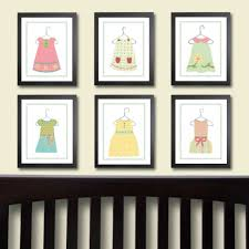 baby nursery wall art decorations for stickers large size wall decal and art with black wooden varnished frame for girl babies