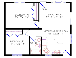 2 bedroom ranch floor plans cottage