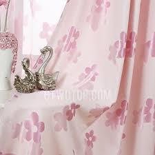 Blackout Curtains For Girls Room Cotton Blend Pastoral Floral Patterned Blackout Curtain For Girls Room