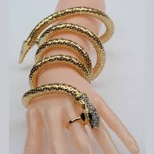 snake bracelet jewelry images Fashion cuff bangle women armband retro snake bracelet vintage jpg