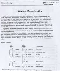 Prentice Hall Biology Worksheet Answers Skill Activity Problem Solving Human Characteristics Answer Key