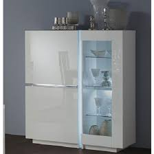 3 Door Display Cabinet Display Cabinet In White High Gloss With 3 Doors
