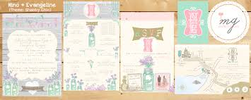 shabby chic invitation suite one charming day