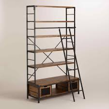 Ladder Bookcase Desk by Metal Ladder Bookshelf Amiphi Info