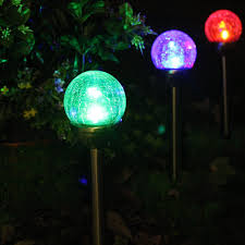 Solar Patio Lights Amazon by Solascape Crackle Glass Globe Color Changing U0026 White Led