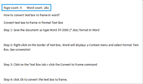 Count Word In Document How To Insert Word Count Or Page Count In Word