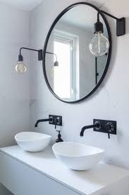 Black Mirror Bathroom Bathroom Marble Tiles Marble Black And White Bathroom
