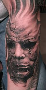 demon face tattoo drawing horror demon face tattoo on faces in