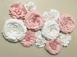 Flower Home Decor by Paper Flower Wall Decor Wedding Decor Home Decor Paper