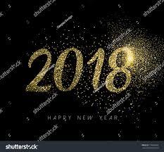 happy new year 2018 gold luxury stock vector 714604504 shutterstock