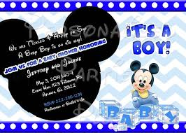 mickey mouse baby shower invitations free mickey mouse baby shower invitation templates paperinvite