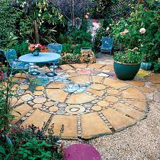 patio square and round patio garden design cottage garden patio