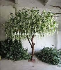artificial real wood trunk artificial wisteria tree with