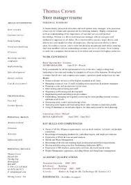 Store Manager Resume Sample by Acting Resume Template Cv Example Job Description Actor
