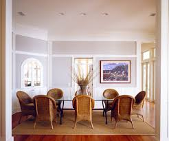 rug in dining room cowhide rug under dining table dining room transitional with