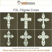 fsl filigree cross free standing lace ornaments machine