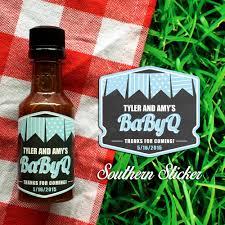 babyq custom barbecue sauce favors personalized bbq labels u0026
